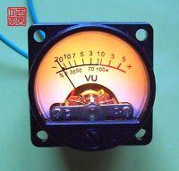 2pcs/lot Panel VU Meter Warm Back Light Recording&Audio Level Amp