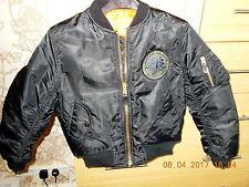 Chaqueta de Vuelo Niño Tamaño de EE. UU. 6 Reino Unido 9 años Chaqueta Volantes Hombres intermedia MA-1