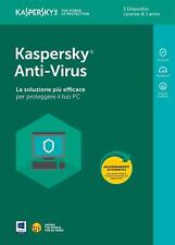 KASPERSKY ANTIVIRUS 2018 , licenza 3 PC > 1 ANNO - KL1171T5CFS-8SLIM - ITALIANO