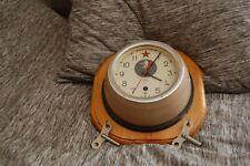 Vintage Russian Soviet Cccp Kauahguyckue Maritime Submarine Clock Used