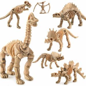 12Pcs Dinosaur Skeleton Fossils Assorted Bones Figures Toys Doll Model Playset