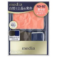 "F/S From JAPAN Kanebo media Collagen Bright Up Cheek ""with brush"" / Color RD-02"