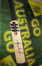 Shane Warne (Australian Test Legend) signed County Mini  Cricket Bat + COA