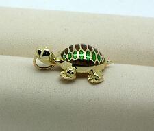 WEMPE Anhänger Schildkröte Emaille 18kt Gold
