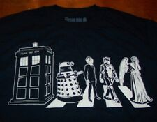 DOCTOR WHO POLICE PHONE BOOTH BOX Characters BBC T-Shirt XL NEW w/ TAG