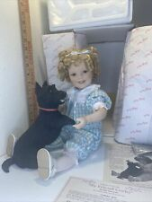 "New Danbury Mint Shirley Temple / My Friend Corky (Scotty Dog) Toddler Doll 18"""