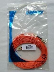 LC-LC33038 50/125 C2G/Cables to Go OM2 Duplex MM PVC Fiber 15 Meter - LOT OF 5