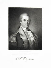 1835 Otho Holland Williams Steel Engraving Portrait by Longacre after Peale