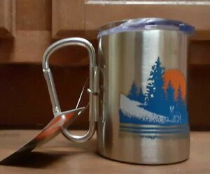 NEW OZARK TRAIL  CARABINER  STAINLESS STEEL MUG SET 17 OZ .