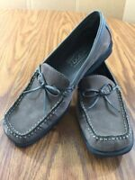Aerology by Aerosoles Women Renee Suede Leather Loafer Shoes Brown Gray SZ 6.5M