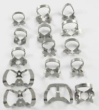 60 Pcs. Endodontic Rubber Dam Clamps of your choice Dental Surgical Instrument