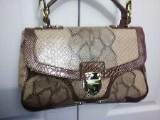 Beige snakeskin effect designer CUPCAKE handbag shoulder bag adjustable strap