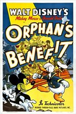 mickey mouse and DONALD DUCK vintage MOVIE POSTER cartoon KID FRIENDLY 24X36