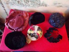 Lot of 6 Vintage Ladies hats
