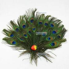 30pcs lots Real Natural Peacock Tail Eyes Feathers 8-12 Inches /about 23-30cm FF