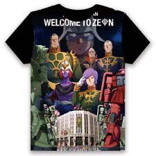 Anime Gundam Char Aznable Print T-shirt Short Sleeve Round Collar Unisex TEE #82