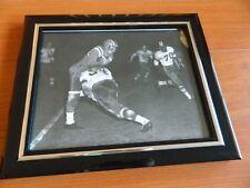 "1950s BC Lions photo of AL POLLARD vs Regina signed by BILL CUNNINGHAM 8"" x 10"""