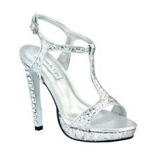 Touch Ups Womens Darcy High Heel Platform Sandal Silver Size 11 #NCM4I-M68