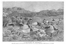 ABYSSINIA Beni Amer Arabs in Quilted Armour - Antique Print 1885