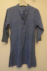 Fab India blue cotton kurta ~ 4-6 years VGC