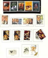 Australia Mostly Used Grouping Of 39 Stamps #1461D Used Gutter Block 1994-95
