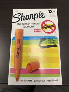 Sharpie 25006 Tank Style Highlighters Chisel Tip Fluorescent Orange Box of 12