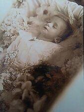 Antique Post Mortem Infant Casket Photo Bizarre Odd Freaky Strange