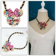 Betsey Johnson Disney Minnie Mouse Embellished Pendant Necklace RV$150