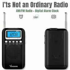 Am Fm Pocket Radio Digital Long Range Long Lasting Alarm Portable Audio Radios