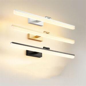 Modern LED Bathroom Mirror Vanity Light Moistureproof Wall Lamp Fixture Lighting
