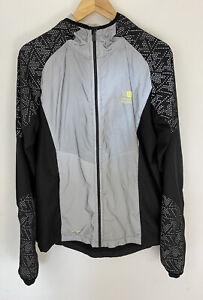 Karrimor Run Mens Jacket Black Grey Reflective X Lite Zip Up Hooded UK M