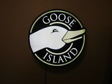 "Goose Island Beer Led Neon bar Light Sign - 19"" X 19"""