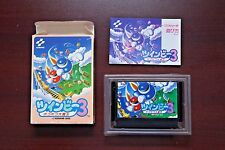 Famicom FC TWIN BEE Twinbee 3 boxed Japan import Konami game US Seller