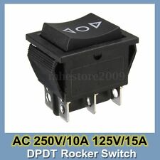 6-Pin DPDT Power Window Momentary Rocker Switch Control AC 250V/10A 125V/15A