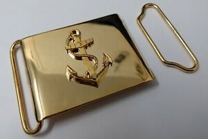 """Genuine Ghana Navy Issue Insignia Ceremonial and Parade 2¼"""" Belt Buckle MFP04"""
