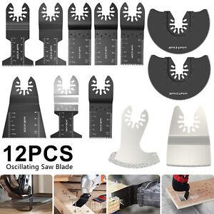 12 pcs Oscillating Saw Blades Multi Tool  For Fein Bosch Multimaster Makita