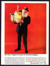 1963 Santa Claus in Business Suit photo Tupperware Party promo print ad