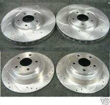 FOR SUBARU LEGACY FORESTER DRILLED GROOVED BRAKE DISC FRONT REAR