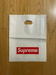 Supreme New York Plastic Tote (10 Pack) Shopping Bag 13x16 Red Box Logo