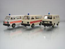 Lot of 3 Rietze Plastic HO Ambulance Cars 1/87 Mitsubishi L300