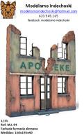 WWII farmacia alemana 1:35 diorama German pharmacy building ruins