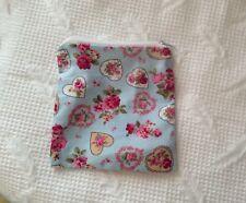 Handmade Flower And Heart Fabric Zippy Coin Money Purse Storage Pouch Bag