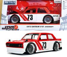 1973 Datsun 510 Widebody JDM Tuners Rot Weiß Red White 1:24 Jada Toys 99097