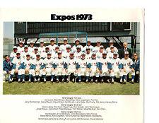 1973 MONTREAL EXPOS 8X10 TEAM PHOTO DOBY HUNT DAY FOLI  BASEBALL CANADA