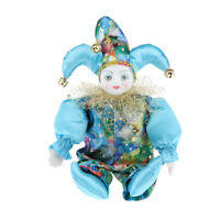 Porcelain Small Clown Doll, Funny Clown Model Figurines Souvenirs Crafts, A