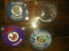 Loot Crate Pin Lot of 4 Pins.,