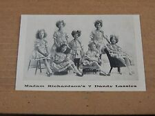 Postcard  actress Madam Richardson's 7 dandy lassies