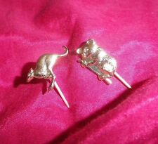 2 BROOCH Pins Vintage KANGAROO KOALA Gold 1970s Lapel Hat- NZ Deceased Estate