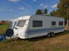 Wohnwagen Hobby gr. Campingwagen Tandem + 3x TV, Kupplung Reifen Bremsen TÜV NEU