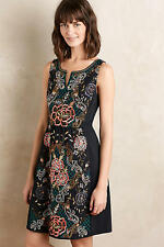 NIB Anthropologie Embroidered Perennial Dress by Moulinette Soeurs Size 2P Petit